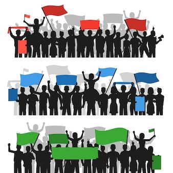 Multitud de personas que protestan