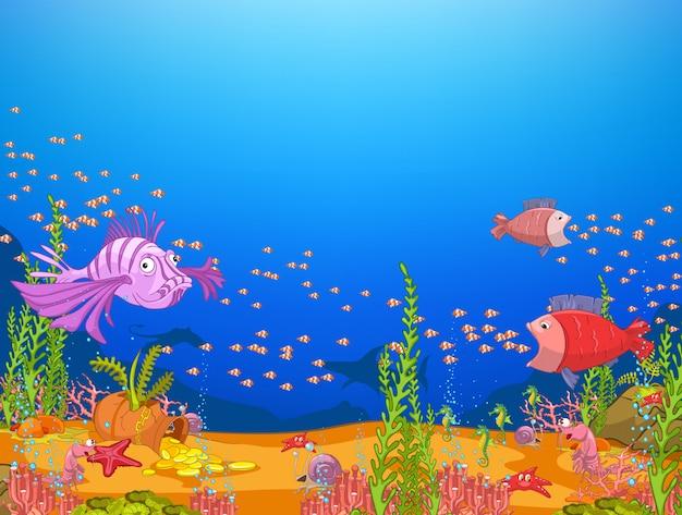Mundo submarino del océano