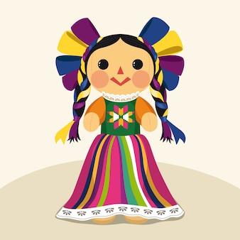 Muñeca maria tradicional mexicana