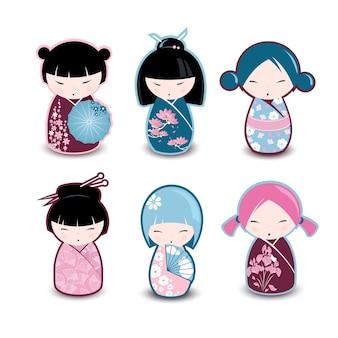 Muñecas tradicionales japonesas