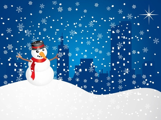 Muñeco de nieve libre de gráficos vectoriales