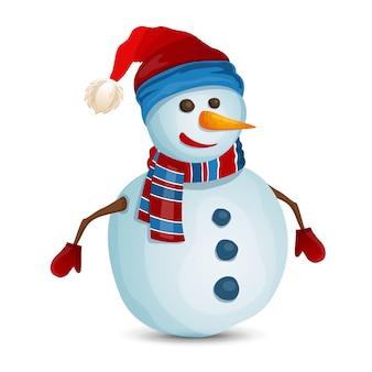 Muñeco de nieve aislado