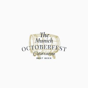 Munick octoberfest beer festival resumen signo, símbolo o plantilla de logotipo.