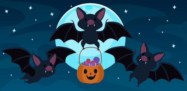 Murciélago y caramelo