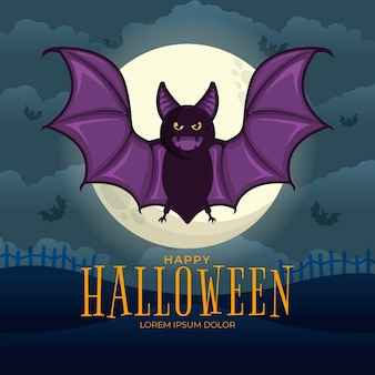 Murciélago festival de halloween