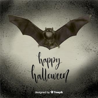 Murciélago de halloween terrorífico en acuarela