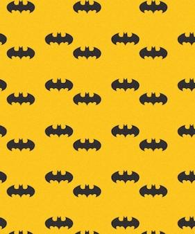 Murciélagos batman patrón de vectores sin fisuras