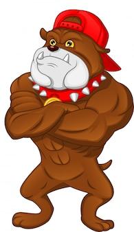 Músculo bulldog inglés de dibujos animados