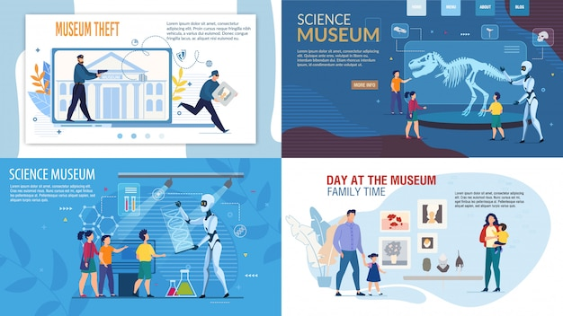 Museo de ciencias, set de seguridad y robo