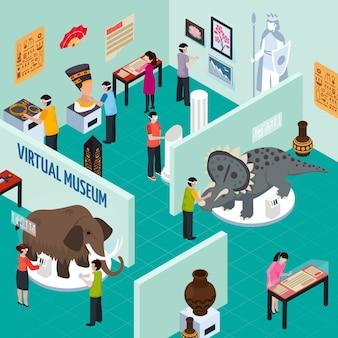Museo de monumentos virtuales de viaje composición