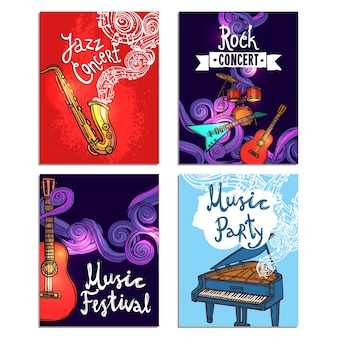 Music mini poster set