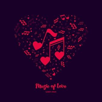 La música del amor.