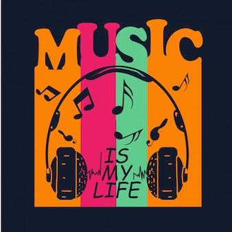 Música para camiseta de diseño