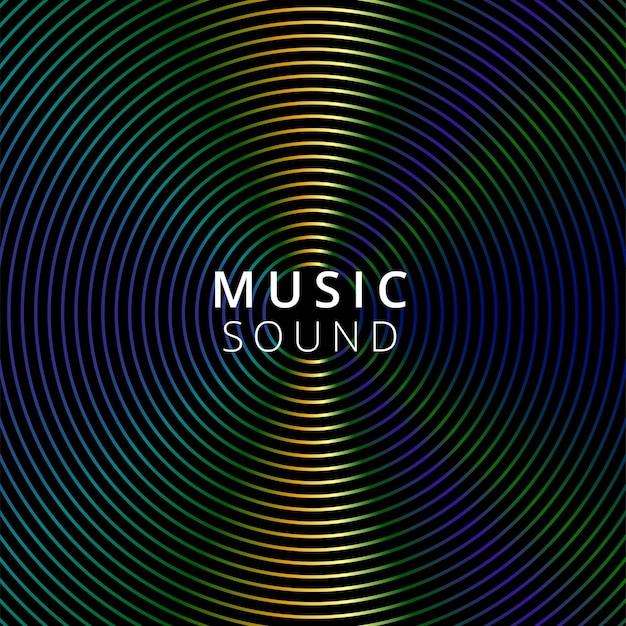 Música de ilustración vectorial sobre fondo oscuro