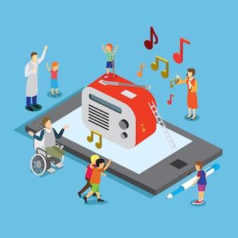 Música en smartphone para personas con discapacidad.