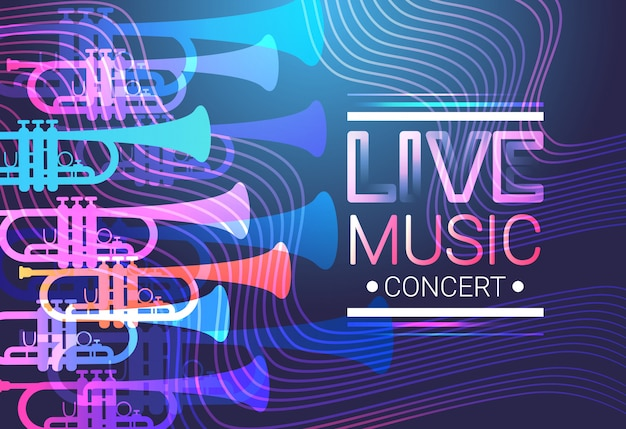 Música en vivo concierto cartel festival banner