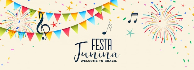 Musical festca junina colorido diseño.