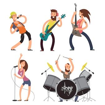 Músicos de rock y cantantes aislados