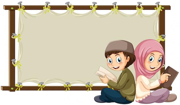 Musulmana y estandarte