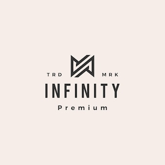 N letra infinity mobius hipster vintage logo