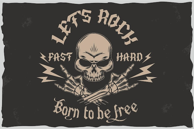 Nacido para ser libre - ilustración de camiseta de vector