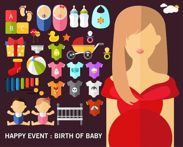 Nacimiento del fondo del concepto de bebé