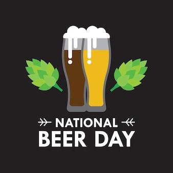 Nacional de ilustración del vector del día de la cerveza en el estilo plano