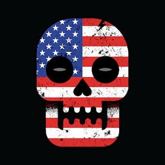 Nacionalismo de américa hasta el final diseño gráfico de la camiseta del arte de la ilustración