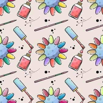 Nail salon color patrón transparente