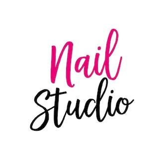 Nail studio lettering para logo