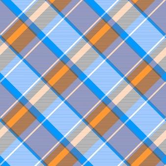Naranja azul gris cuadros cuadros de patrones sin fisuras