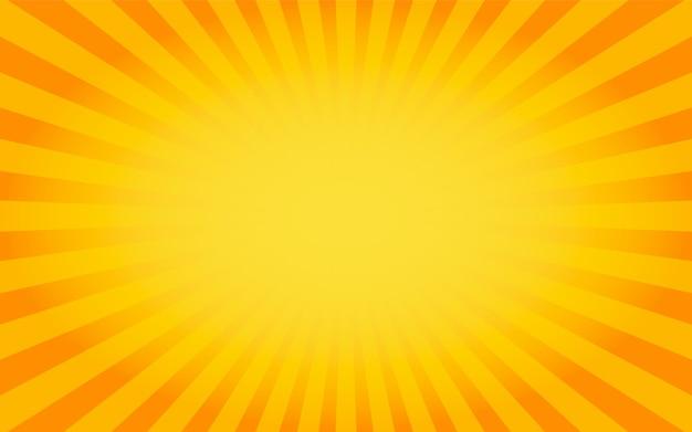 Naranja de fondo sunburst