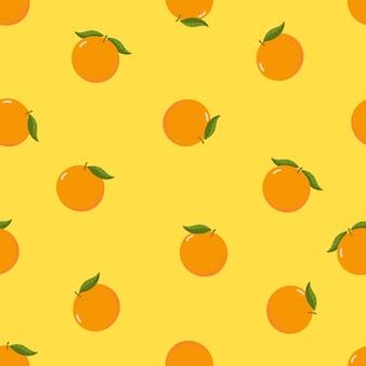 Naranja orgánica fresca de patrones sin fisuras.