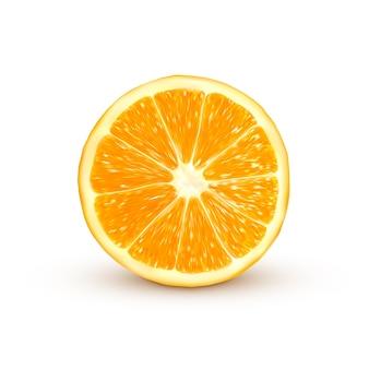 Naranja realista aislado en blanco
