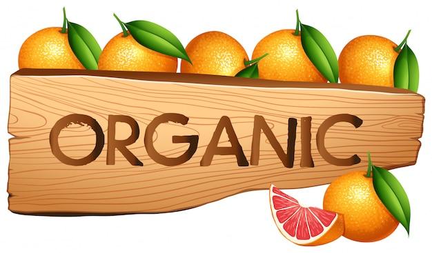 Naranjas y signo orgánico.