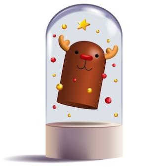 Nariz roja diseño de personajes 3d reno decorativo