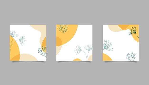Naturaleza abstracta dibujada a mano para publicación en redes sociales