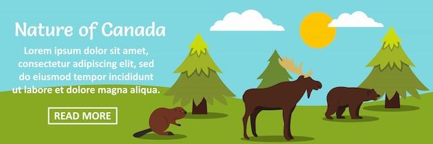 Naturaleza del concepto horizontal de plantilla de banner de canadá