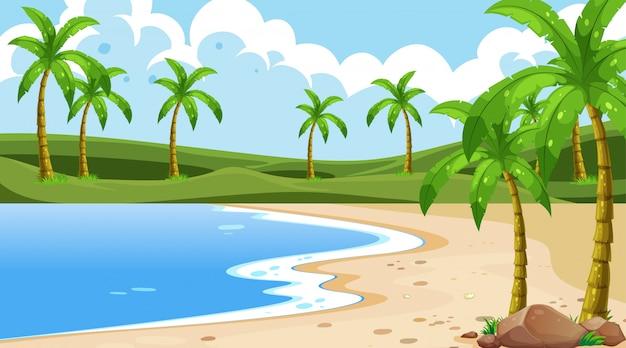 Naturaleza costera vacía oceano paisaje costero