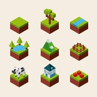 Naturaleza en el diseño de píxeles