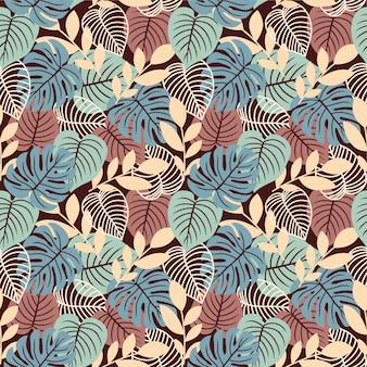 Naturaleza de patrones sin fisuras deja fondo colorido