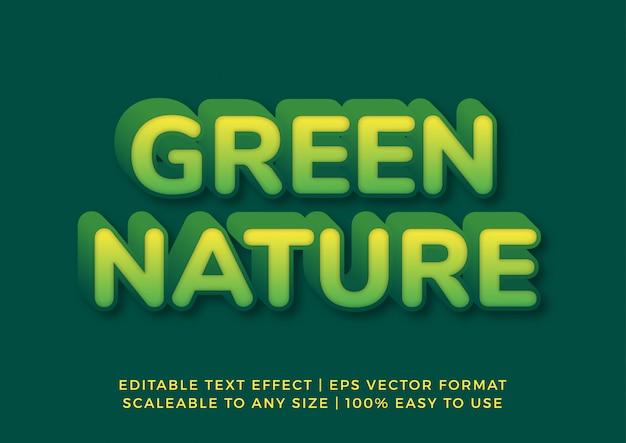 Naturaleza verde medio ambiente efecto de texto 3d