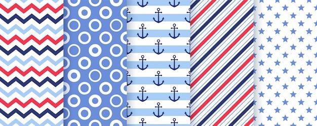 Náutico, marino de patrones sin fisuras. ilustración. fondos marinos.