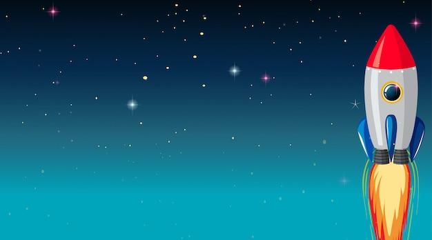 Nave espacial fondo galaxia