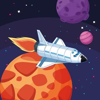 Nave espacial planetas luna exploración espacial