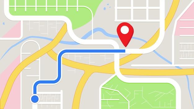 Navegación de la aplicación hay un destino para llegar al mapa gps de destino