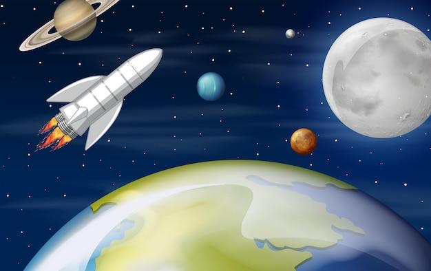 Naves espaciales en el espacio
