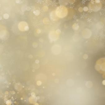 Navidad y año nuevo brillante desenfoque de luces doradas sobre fondo abstracto.