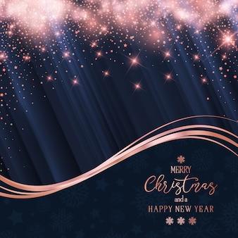 Navidad y año nuevo brillo fondo