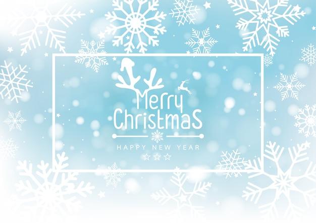 Navidad y año nuevo desenfoque bokeh de luz en el fondo